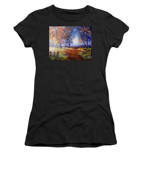 Autumn Wheelbarrow Women's T-Shirt (Athletic Fit)