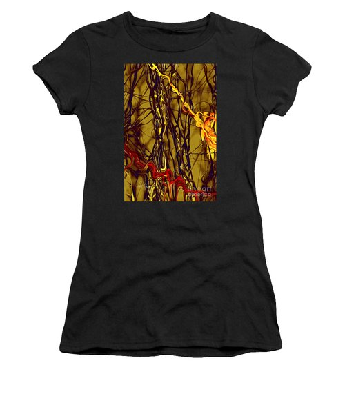 Women's T-Shirt (Junior Cut) featuring the digital art Shapes Of Fire by Leo Symon