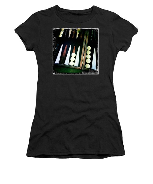 Women's T-Shirt (Junior Cut) featuring the photograph Backgammon Anyone by Nina Prommer