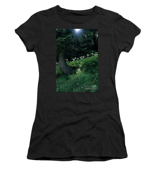 Women's T-Shirt (Junior Cut) featuring the photograph Bear-grass Ridge II by Sharon Elliott