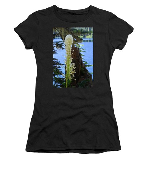beargrass and Stump Women's T-Shirt (Athletic Fit)