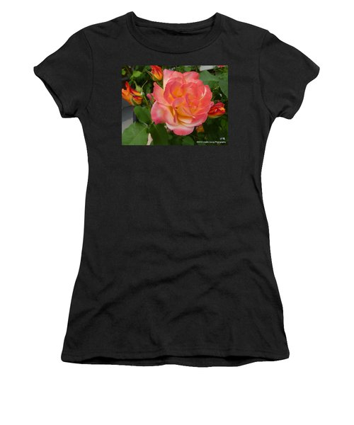 Women's T-Shirt (Junior Cut) featuring the photograph Beautiful Rose With Buds by Lingfai Leung