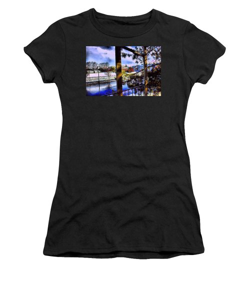 Women's T-Shirt (Junior Cut) featuring the mixed media Beaverton  H.s. Winter 2011 by Terence Morrissey