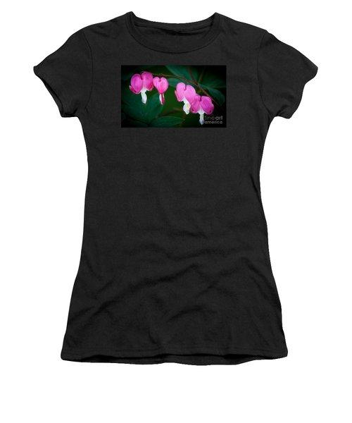 Bleeding Hearts 002 Women's T-Shirt (Junior Cut) by Larry Carr