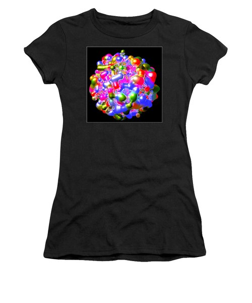 Women's T-Shirt (Junior Cut) featuring the digital art Blob Of Color... by Tim Fillingim