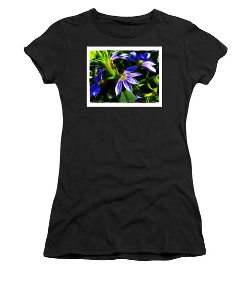 Blue Ballet Women's T-Shirt (Junior Cut) by Judi Bagwell