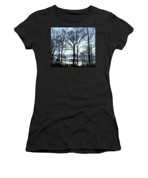 Women's T-Shirt (Junior Cut) featuring the photograph Blue Mirage by Pamela Hyde Wilson