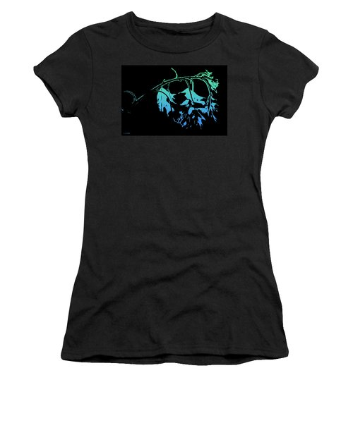 Blue On Black Women's T-Shirt