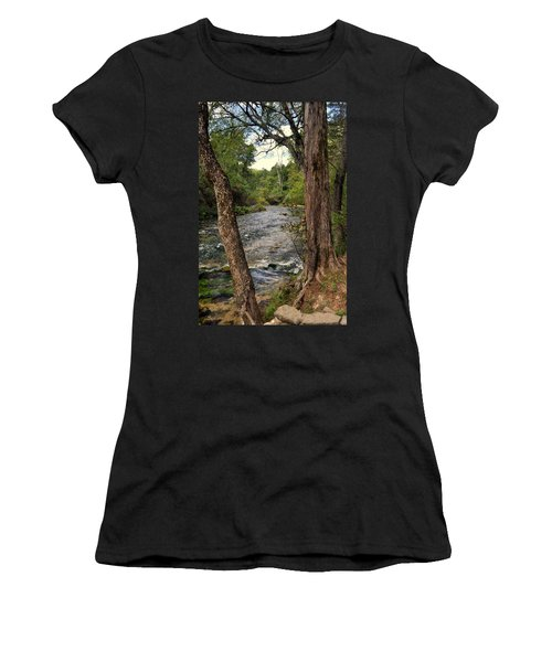 Women's T-Shirt (Junior Cut) featuring the photograph Blue Spring Branch by Marty Koch