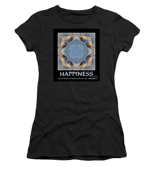 Bluebird Kaleidoscope Happiness Women's T-Shirt (Junior Cut) by Smilin Eyes  Treasures