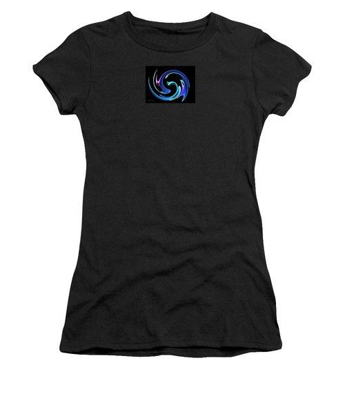Women's T-Shirt (Junior Cut) featuring the digital art Dancing Blues by Maciek Froncisz