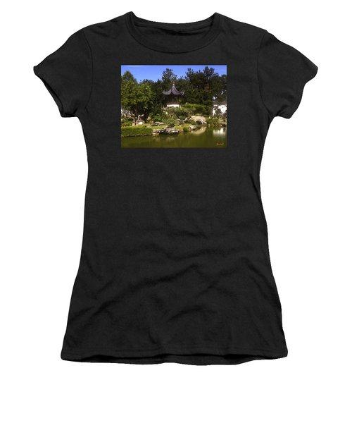 Bonzai Garden And Gazebo 19l Women's T-Shirt (Junior Cut) by Gerry Gantt