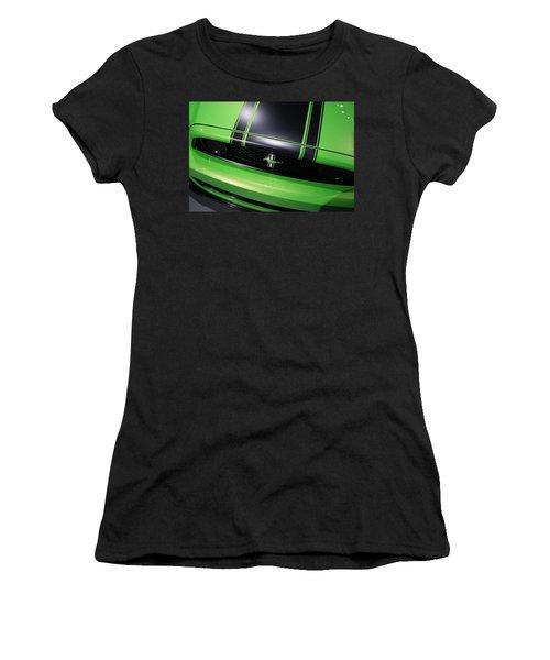 Women's T-Shirt (Junior Cut) featuring the photograph Boss 302 Ford Mustang by Gordon Dean II