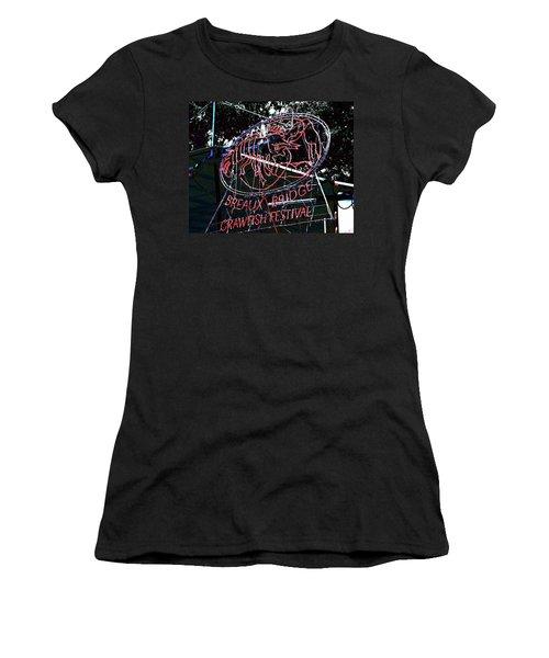 Breaux Bridge Crawfish Festival Women's T-Shirt (Athletic Fit)
