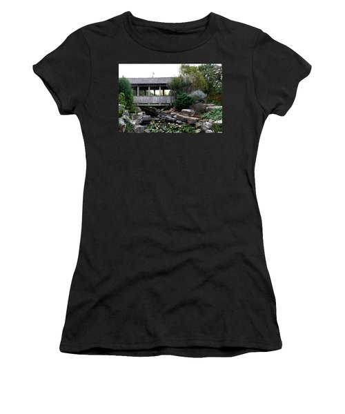 Women's T-Shirt (Junior Cut) featuring the photograph Bridge Over Water by Elizabeth Winter