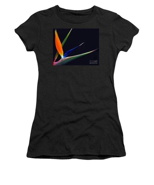Bright Bird Of Paradise Rectangle Frame Women's T-Shirt