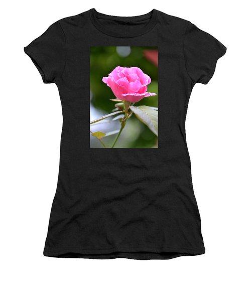Bubblegum Rose Women's T-Shirt (Athletic Fit)