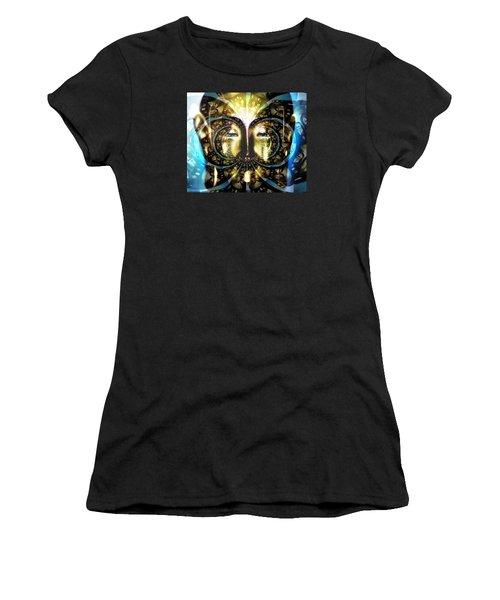 Buddha Blue Mandala Women's T-Shirt (Athletic Fit)