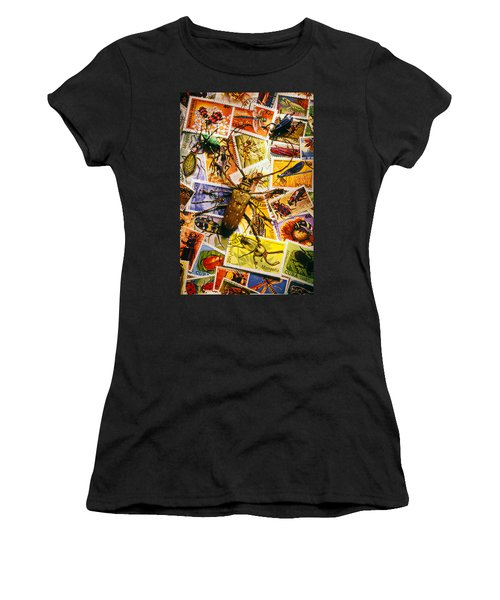 Bugs On Postage Stamps Women's T-Shirt