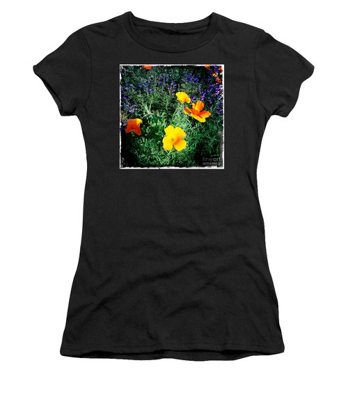 Women's T-Shirt (Junior Cut) featuring the photograph California Poppy by Nina Prommer
