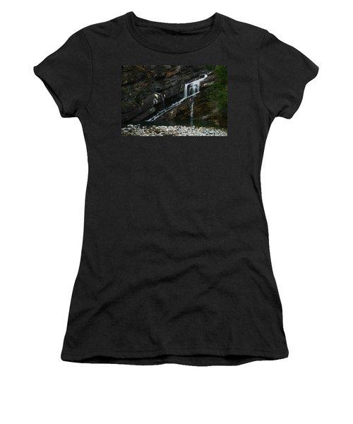 Cameron Falls Waterton Lakes National Park Women's T-Shirt (Athletic Fit)