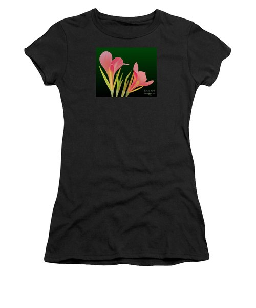 Canna Lilly Whimsy Women's T-Shirt (Athletic Fit)