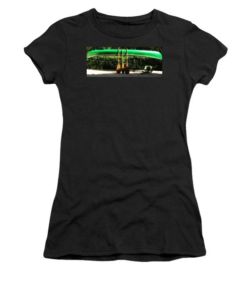 Women's T-Shirt (Junior Cut) featuring the photograph Canoe To Nowhere by Alec Drake