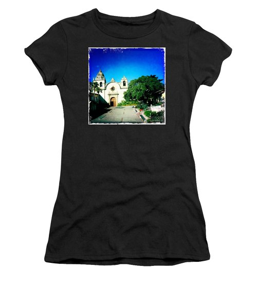 Women's T-Shirt (Junior Cut) featuring the photograph Carmel Mission by Nina Prommer