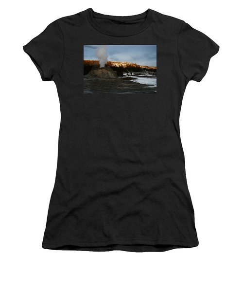 Castle Geyser Yellowstone National Park Women's T-Shirt (Athletic Fit)