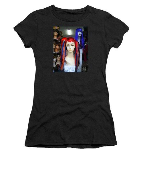 Colored Hairdo Women's T-Shirt (Junior Cut) by John King