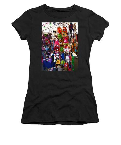 Colorful Character Hats Women's T-Shirt (Junior Cut) by Kym Backland