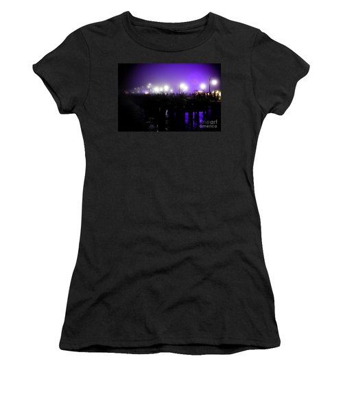 Cool Night At Santa Monica Pier Women's T-Shirt