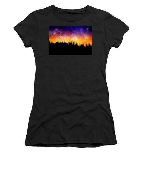 Cosmic Night Women's T-Shirt (Junior Cut) by Ellen Heaverlo