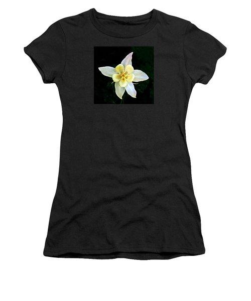 Creamy Columbine Women's T-Shirt (Junior Cut) by Nick Kloepping