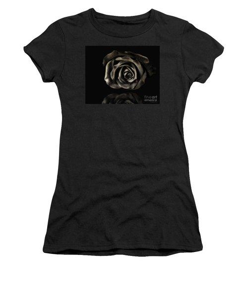 Crying Black Rose Women's T-Shirt (Junior Cut) by Danuta Bennett