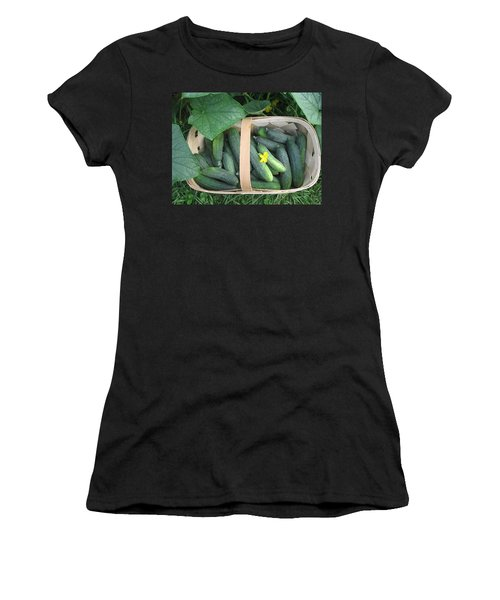 Cucumbers In Garden Basket Women's T-Shirt
