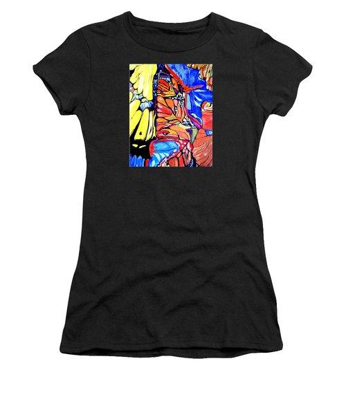 Butterflies Wings  Women's T-Shirt (Junior Cut) by Sandra Lira