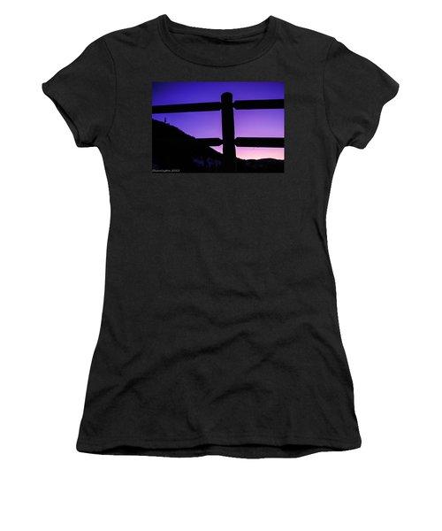 Women's T-Shirt (Junior Cut) featuring the photograph Darkening Sky by Shannon Harrington
