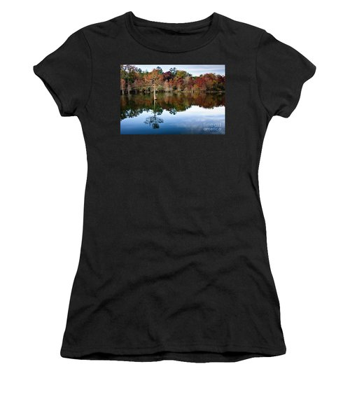 Women's T-Shirt (Junior Cut) featuring the photograph Beaver's Bend Defiant Cypress by Tamyra Ayles