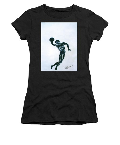 Disc Thrower Women's T-Shirt (Athletic Fit)