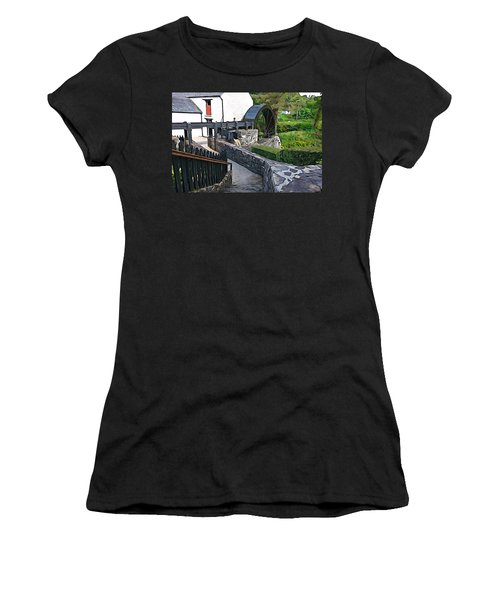 Women's T-Shirt (Junior Cut) featuring the photograph Down To The Mill by Charlie and Norma Brock