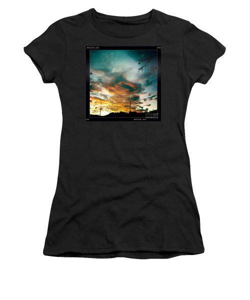Women's T-Shirt (Junior Cut) featuring the photograph Drama In The Sky by Nina Prommer