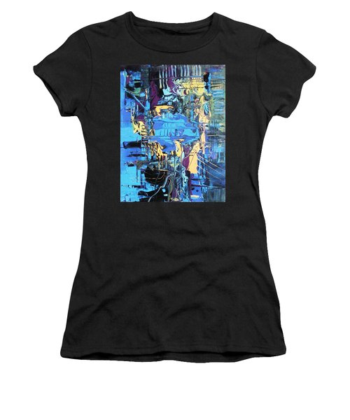 Drowning In The Blues Women's T-Shirt (Athletic Fit)
