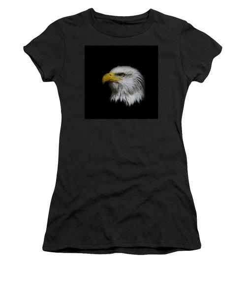 Eagle Head Women's T-Shirt (Junior Cut) by Steve McKinzie