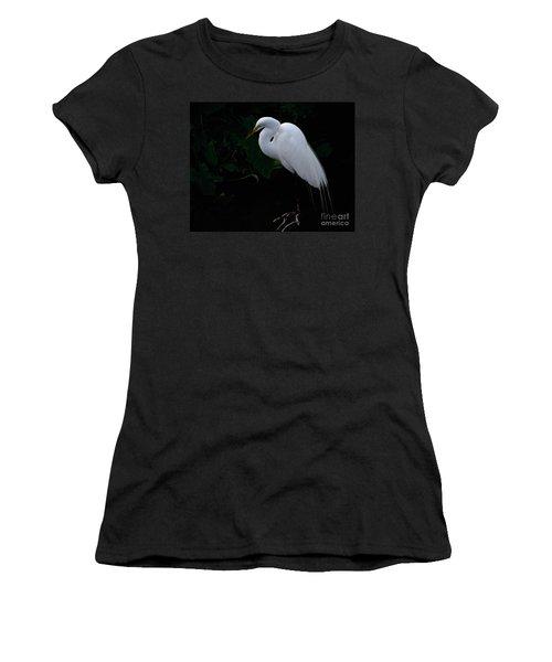 Egret On A Branch Women's T-Shirt