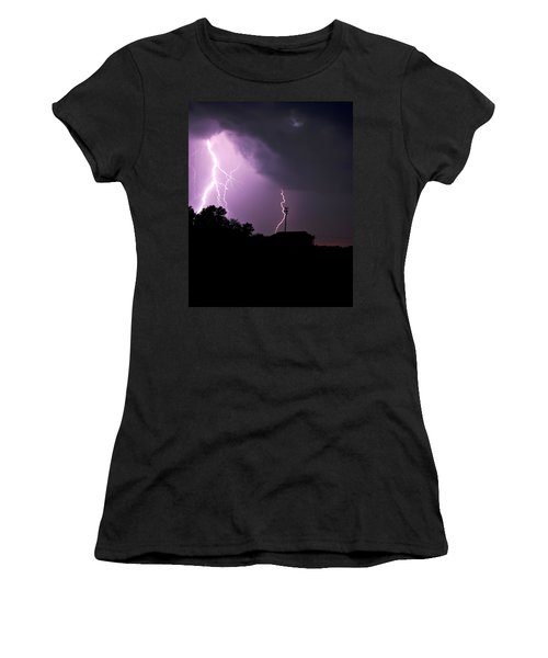 Electrifying Sky  Women's T-Shirt (Athletic Fit)
