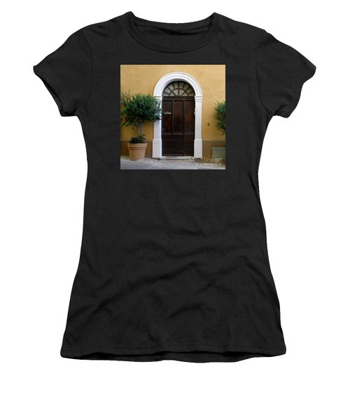 Women's T-Shirt (Junior Cut) featuring the photograph Enchanting Door by Lainie Wrightson