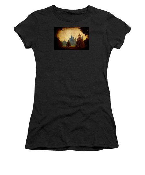 Women's T-Shirt (Junior Cut) featuring the photograph Fall In The City by Milena Ilieva