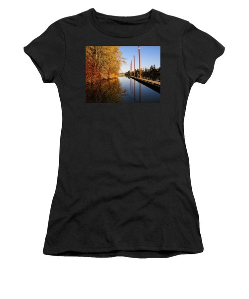 Fall Pier Women's T-Shirt (Athletic Fit)