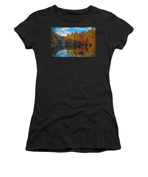 Fall Reflection Women's T-Shirt (Athletic Fit)
